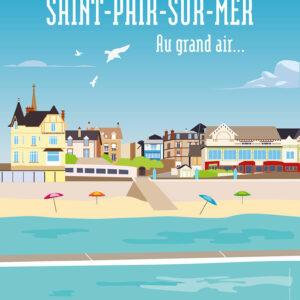 llustration de la ville de Saint-Pair-sur-Mer